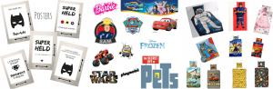Star wars, Frozen, Paw Petrol, Barbie, Superhelden voorbeelden